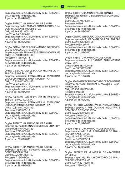 2106e23ee0 29  Imagem da página 30 do Diário Oficial de 16 01 2018