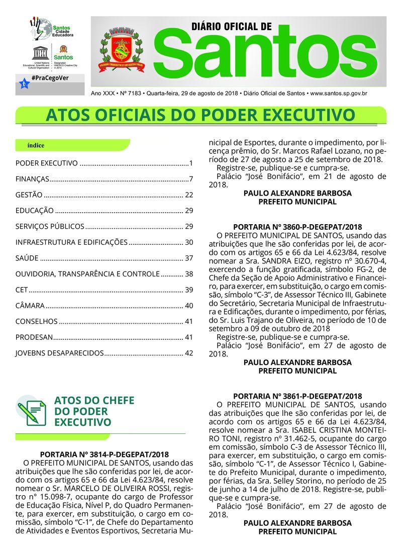29 de agosto de 2018 1 Diário O cial de Santos DIÁRIO OFICIAL DE   0400537a67be6